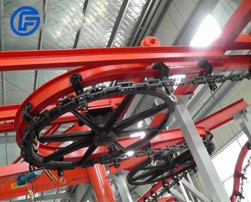 Suspended conveyor equipment