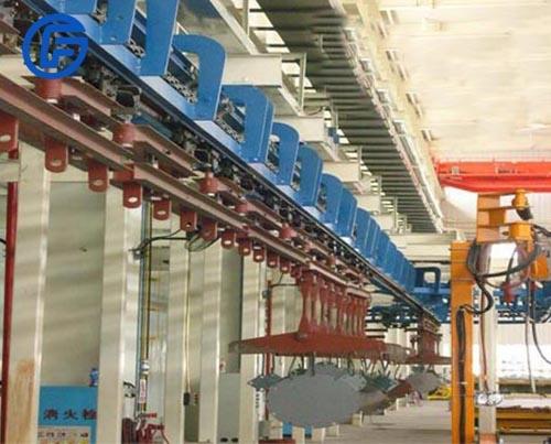 Accumulated suspension conveyor equipment