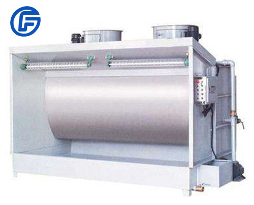 Water curtain spray booth