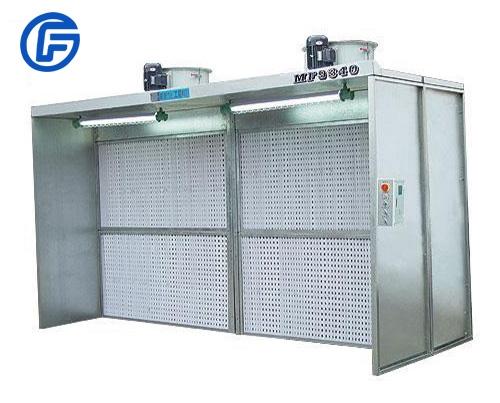 Dry spraying equipment